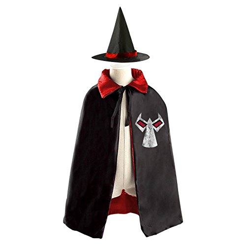 [Injustice Bane Logo Halloween Costumes Decoration Cosplay Witch Cloak with Hat (Black)] (Ares Costumes Injustice)