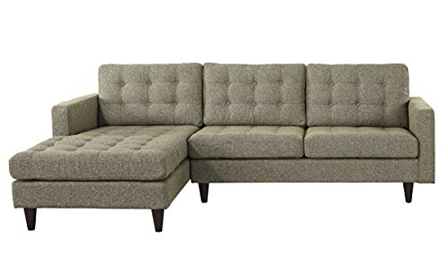 Empress Left-Facing Upholstered Sectional Sofa in Oatmeal