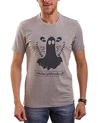 Nas Trends Grey Cotton Round Neck T-Shirt For Men