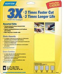 Norton Abrasives Norton 02624 9'' x 11'' Prosand P320B Bulk 100Pk - 500ct. Case