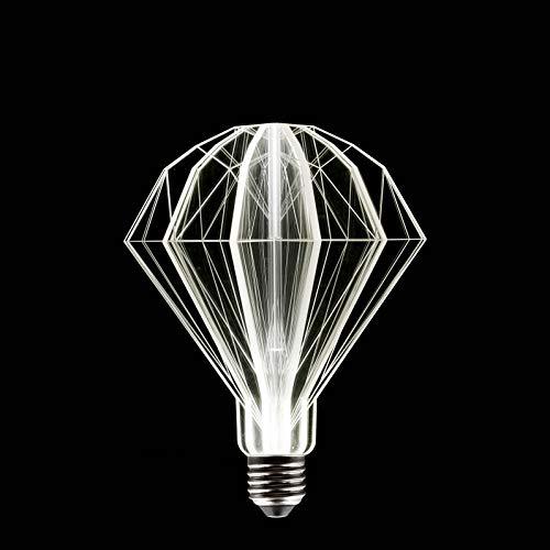 In The Loop Bombilla decorativa 3d de plexiglas Casquillo E27Noa Star LED de 17cm, 2W, transparente