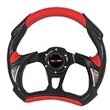 RXMOTOR WHEEL-002BR Universal Fit JDM Battle Racing Steering Wheel New - Red