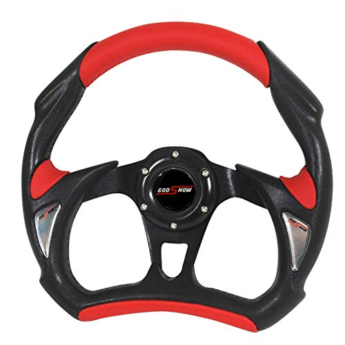 (RXMOTOR WHEEL-002BR Universal Fit JDM Battle Racing Steering Wheel New,)