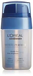 L'oreal - White perfect double eye zone brightener, corrector para el contorno de los ojos, 15 ml