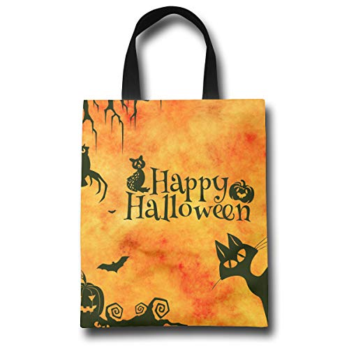 Sfgggerrd Gatto Halloween Friendly Large Shopping Bags Lightweight Grocery Tote -
