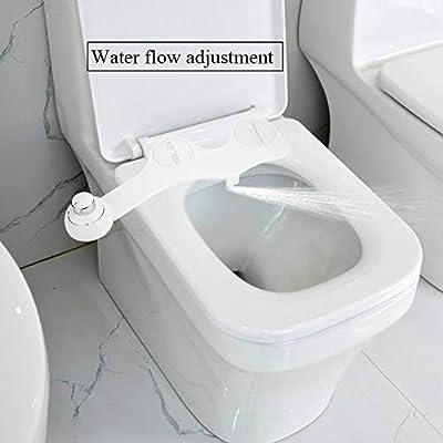 Sedile Bidet Per Wc.Ebtools Sedile Per Wc Che Funziona Da Bidet Con Ugello Per La Fuoriuscita Di Acqua Fredda Autopulente Colore Bianco Ultra Sottile 45 X 16 5 X 6 5 Cm Amazon It Casa E Cucina