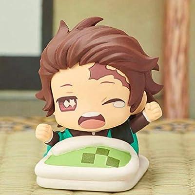 Raleighsee Demon Slayer: Kimetsu no Yaiba Anime Q Version Sleeping Doll Nezuko Tanjirou Zenitsu Inosuke Giyuu Statue PVC Figure / Vinyl Figure / Action Figure / Collectible: Toys & Games