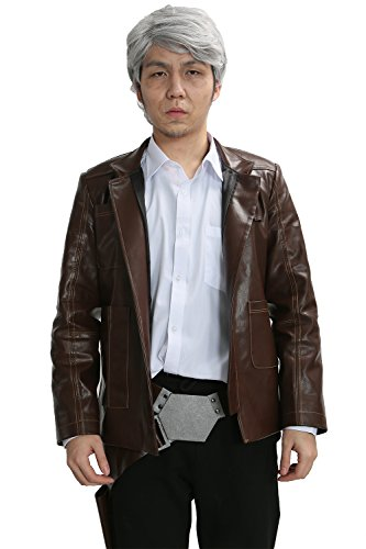 [New Han Solo Costume & Wig & Belt Blaster Outfit for Adult Halloween Cosplay Tailored] (Han Solo Adult Costumes)