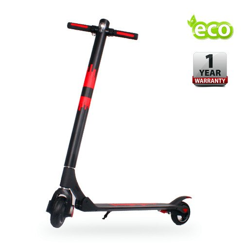 Electric Scooter For Men/Women 36V Battery 250W Motor Portable Folding Kick Scooter Black/Red
