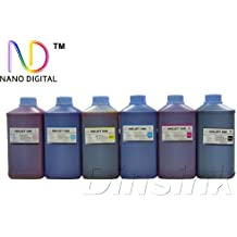 ND Brand Dinsink: 6 Quart/ 6X64OZ(C/M/Y//K/LC/LM) Refill ink for 77 78 79 98 99 refillable and CISS . the ink bottle with ND nano digital Logo