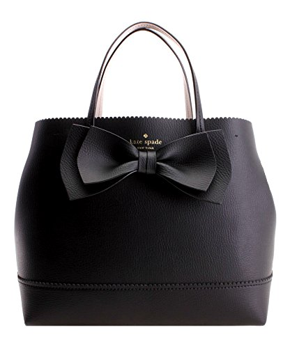Kate Spade New York VANDERBILT PLACE SMALL GIORGIA TOTE LEATHER HANDBAG (BLACK) by kate spade