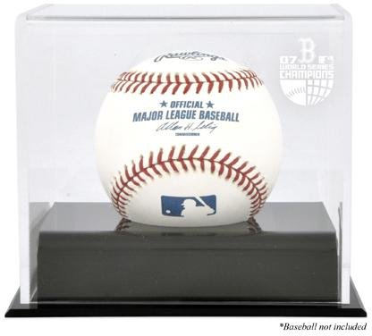 2007 World Series Logo Case - Boston Red Sox 2007 World Series Champs Baseball Cube Logo Display Case