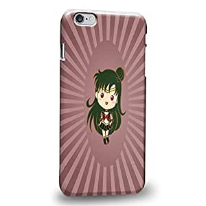 Case88 Premium Designs Art Sailor Moon Crystal Sailor Animated Chibi Sailor Pluto Protective Snap-on Hard Back Case Cover for Apple iPhone 6 Plus 5.5""