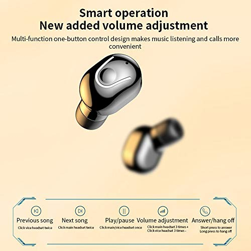 gdfh Bluetooth Earbuds Wireless Earbuds Bluetooth Earphones Wireless Headphones, Bluetooth 5.0 TWS Stereo Earphones in-Ear with Charging Case, Built-in Microphones for Sports,Workout,Gym