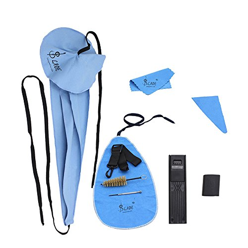 Andoer Saxophone Cleaning Care Kit Belt Thumb Rest Cushion Reed Case Mouthpiece Brush Mini Screwdriver Cleaning Cloth by Andoer (Image #7)