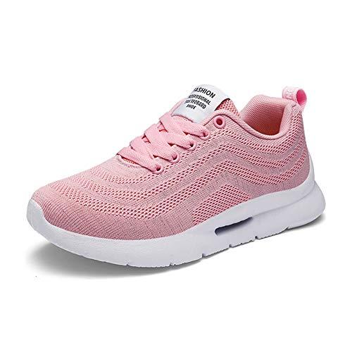 Mujer Gimnasia Ligero Sneakers Zapatillas de Deportivos de Running para Rosa-a45