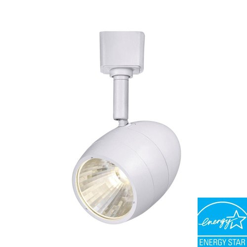 (Hampton Bay 1-Light 2.56 in. White LED Dimmable Track Lighting Fixture)