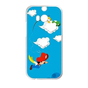 Generic for HTC One M8 Cell Phone Case White Super Mario Custom HFOKHJHLK4714