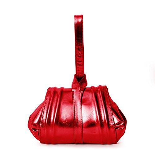 Gretchen Damen Tango Mini Abendtasche - Fire Red Metallic