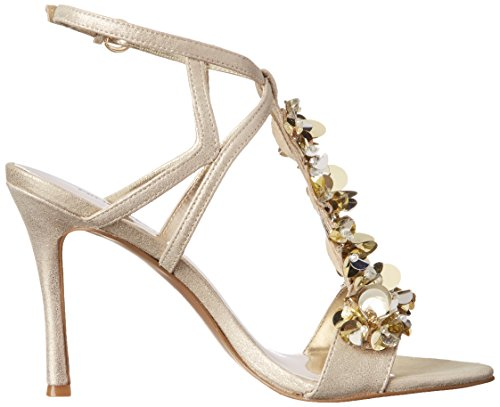 Gold Sandal West Women's Heeled Fabfour Metallic Nine Light d04wqPqx