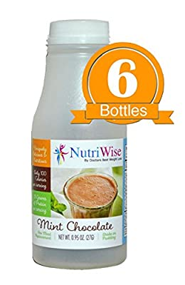 NutriWise - Mint Chocolate Meal Replacement Diet Shake, 100 Calories, 15g Protein