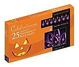 Celebrations Halloween C9 Light Set, 25 Lights, Black Bulbs W/black Cord