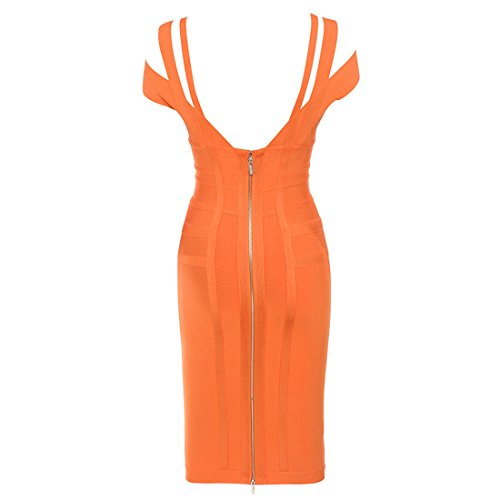 HLBCBG Pink Rosa Orange Kleid Damen 6q6Rxav