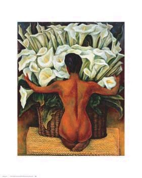 - Nude With Calla Lilies - Poster by Diego Rivera (16 x 20)