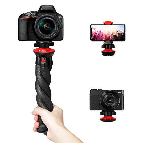دوربین سه پایه ، سه پایه قابل انعطاف Fotopro ، سه پایه برای تلفن با کلیپ تلفن برای iPhone Xs Max ، سامسونگ ، سه پایه برای دوربین ، Mirrorless DSLR سونی نیکون Canon