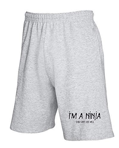 shirtshock A Ninja Pantaloncini Tuta T Trk0309 Grigio H1nxdqHwg