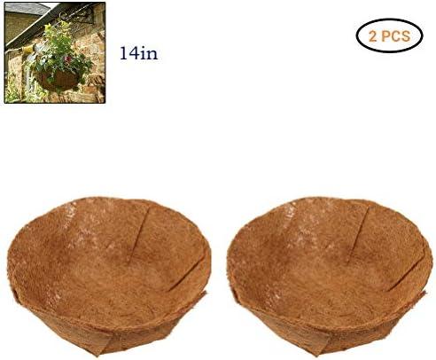 Sarplle Kokoseinlage 2PCS Pflanzeinsatz Inlay Blumentopf für Indoor & Outdoor Hängeampel Hängekorb Frostschutz Kälteschutz