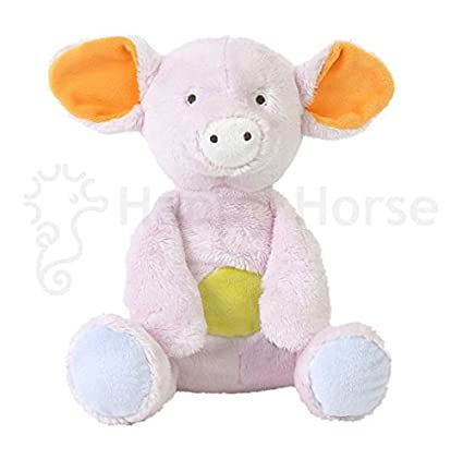 Happy Horse - Peluches et Doudous - Peluche Cochon Poppy - Coloris : rose parme gris
