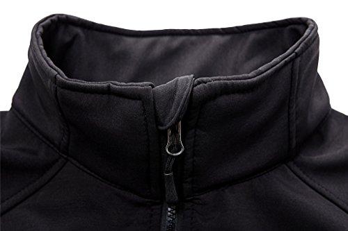 Wantdo Mujer Cazadora Chaqueta Abrigo Suave Negro