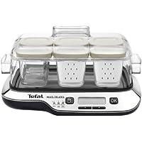 Tefal YG6548 Multidelice - Robot fabricador de postres, yogures y queso fresco, tarros aptos nevera y el lavavajillas, pantalla LCD