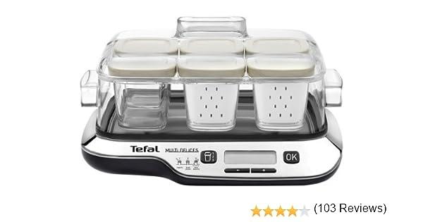 Tefal YG6548 Multidelice - Robot fabricador de postres, yogures y queso fresco, tarros aptos nevera y el lavavajillas, pantalla LCD: Amazon.es: Hogar