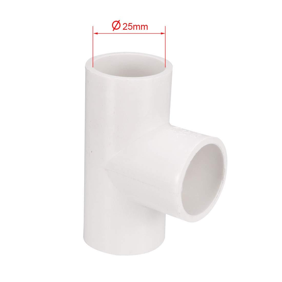 sourcing map 25mm raccord pour tuyau PVC en T connecteur couplage 5 Pcs