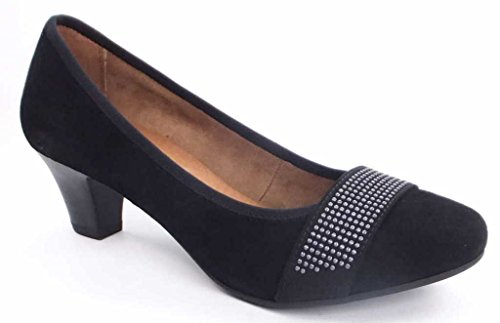 Jana Jana Fashion 8-8-22203-20 - Zapatos de vestir de cuero para mujer negro