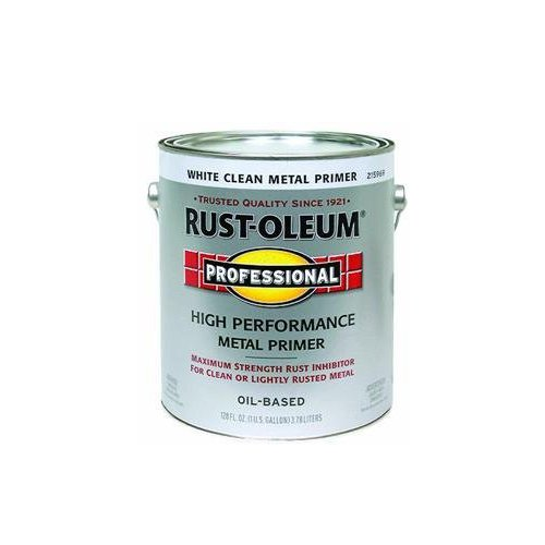 - RUST-OLEUM 215969 Professional Gallon White Primer Enamel Paint