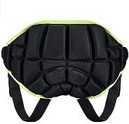 Thur amo 3D Padded Protection Hip, Kids Protective Butt Pad Anti-Fall Pants Hip Pad Shorts Anti-Slip Adjustabl