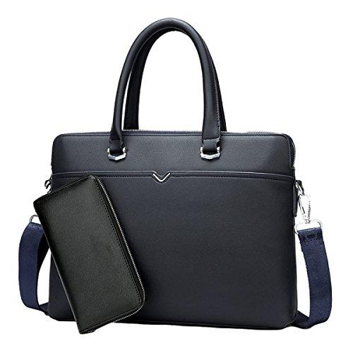 Blue1 Bolsa Hombres Cuero Negocios De Ordenador Grande Paquete Mensajero Bolso qw7R1qxgz