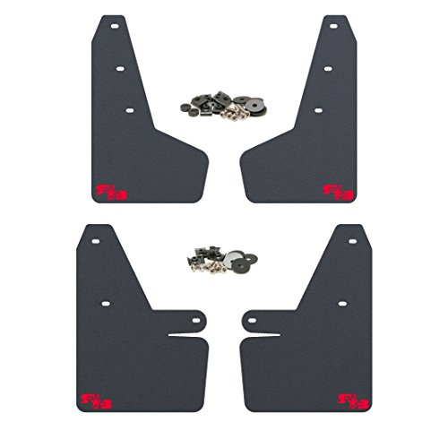RokBlokz Mud Flaps for 2018 + Subaru Crosstrek - Multiple Colors Available - Mud Guards are Custom Cut and Fit - Includes All Mounting Hardware (Black with Red Logo)