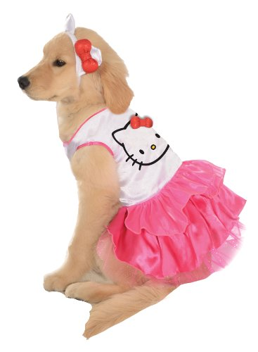 Rubies Costume Printed Doggy Cuff Pet Costume, Large, Hello Kitty Dress -