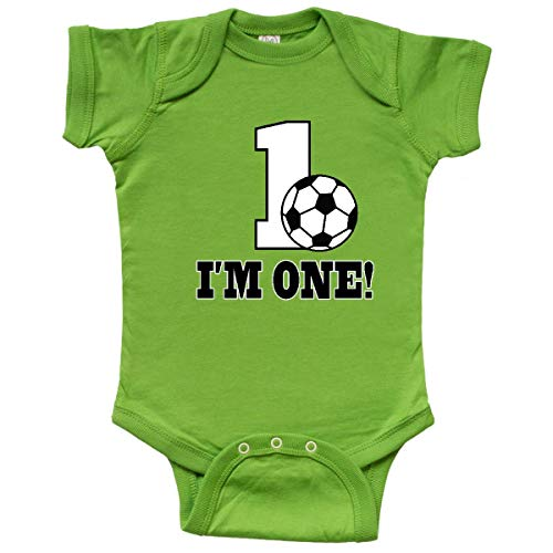 inktastic First Birthday Soccer 1 Year Old Infant Creeper 18 Months Apple Green