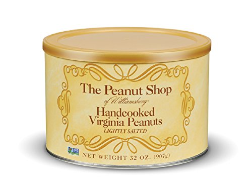 The Peanut Shop of Williamsburg Handcooked Virginia Peanuts, Lightly Salted, 32 (Hand Cooked Virginia Peanuts)
