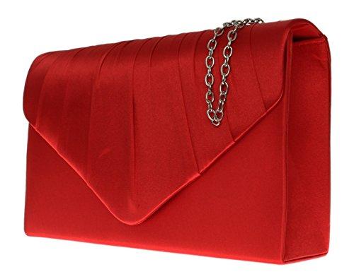 para Girly de Cartera rojo mujer Handbags rojo mano Zgxpwgfz