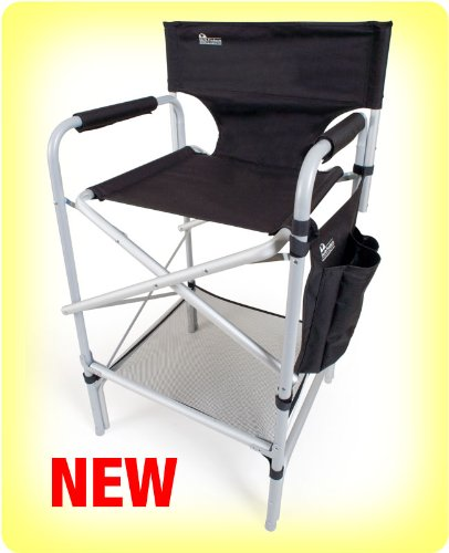 Earth Heavy Duty VIP Tall Aluminum Director's Chair (Folding Chair High Directors)