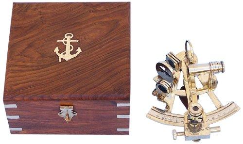 Hampton-Nautical-Scouts-Brass-Sextant-4-Brass