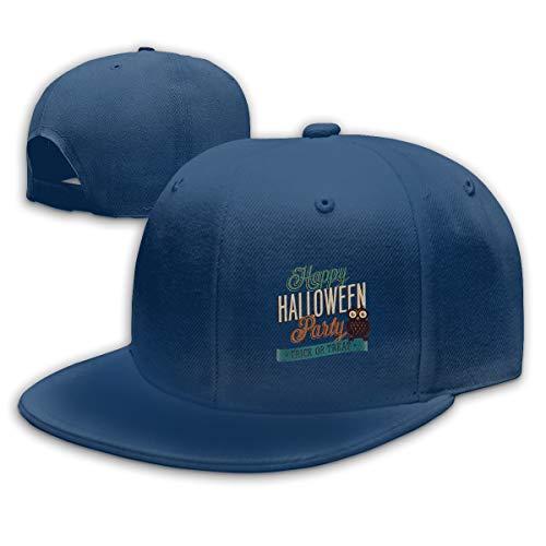 Buecoutes Happy Halloween Flat Visor Baseball Cap, Fashion
