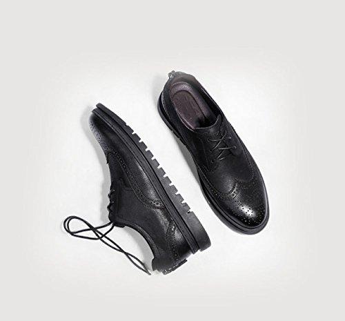 Shoes Black Hommes Rétro Pour Men's Bullock Chaussures GRRONG qn0wYt7ZxE