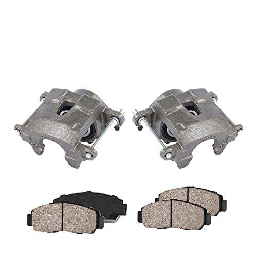 COEK00595 [2] FRONT Premium Loaded OE Caliper Assembly Set + Quiet Low Dust Ceramic Brake (El Camino Disc Brake)